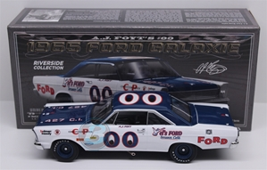A.J. Foyt  #00 Vel's Ford 1965 Ford Galaxie 1:24 University of Racing Nascar Diecast A.J. Foyt nascar diecast, diecast collectibles, nascar collectibles, nascar apparel, diecast cars, die-cast, racing collectibles, nascar die cast, lionel nascar, lionel diecast, action diecast, university of racing diecast, nhra diecast, nhra die cast, racing collectibles, historical diecast, nascar hat, nascar jacket, nascar shirt,historical racing die cast
